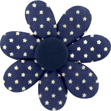 Barrette fleur marguerite etoile marine or