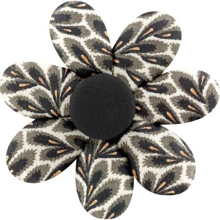 Barrette fleur marguerite feuillage