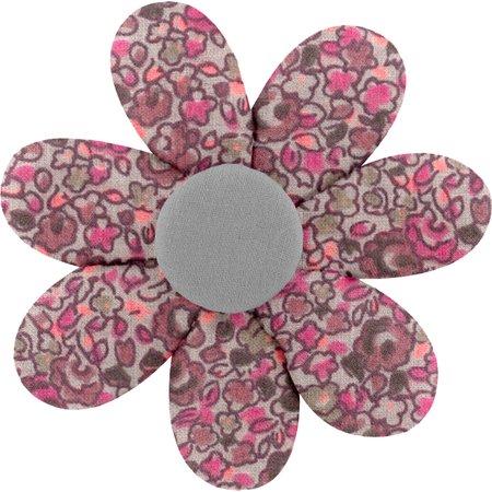 Fabrics flower hair clip plum lichen