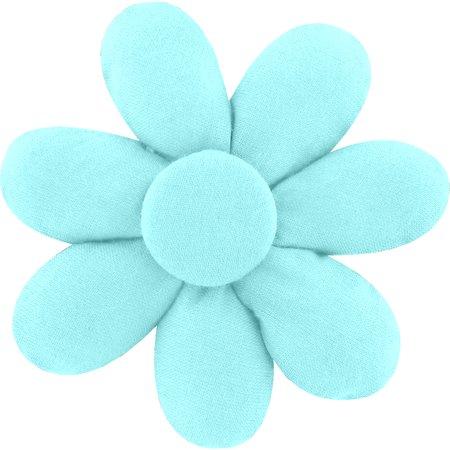 Fabrics flower hair clip azur