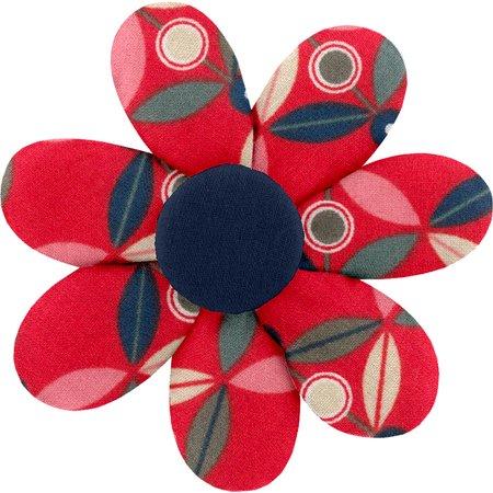 Barrette fleur marguerite paprika petal