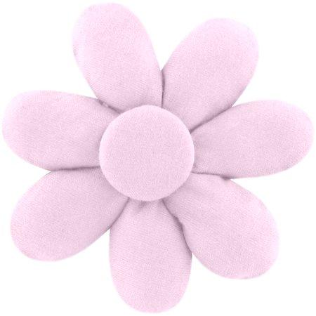 Pasador flor margarita  rosa oxford