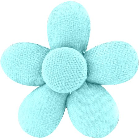 Mini flower hair slide azur