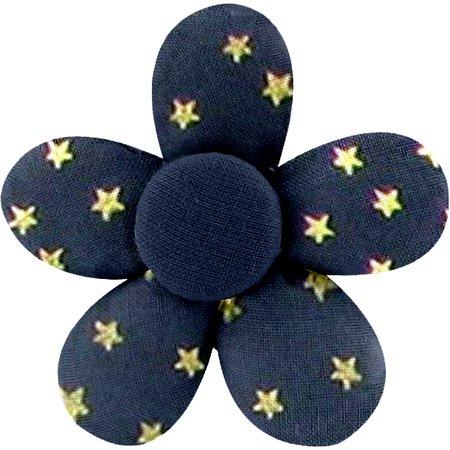 Pasador mini flor etoile or marine