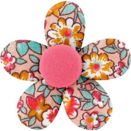 Pasador mini flor cuadrado de flores