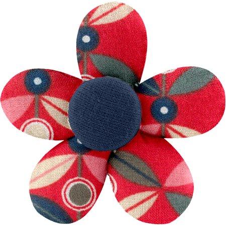 Pasador mini flor pétalo paprika