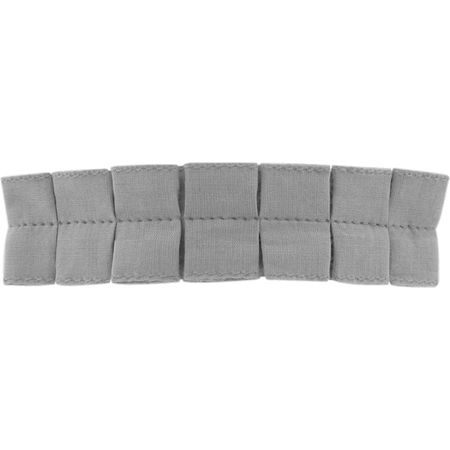 Grande barrette plissée gris