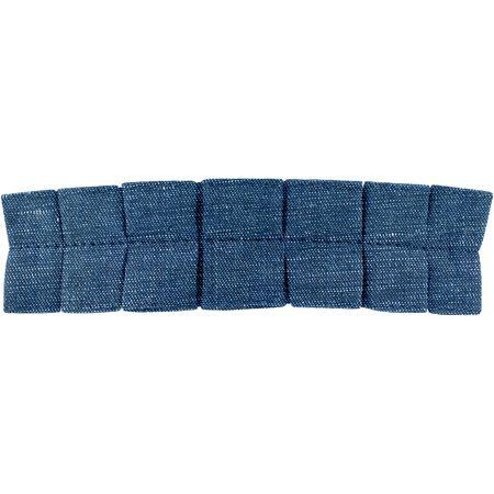 Grande barrette plissée jean fin
