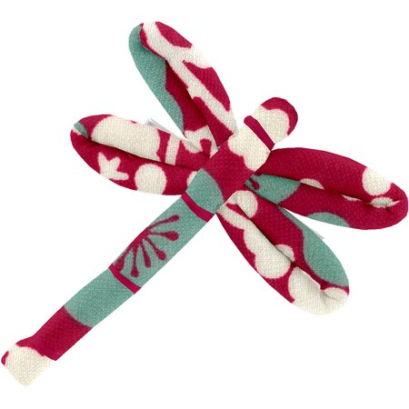 Dragonfly hair slide ruby cherry tree