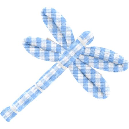 Dragonfly hair slide sky blue gingham