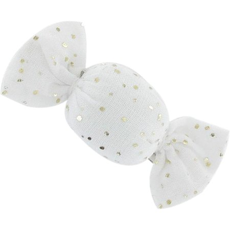 Mini sweet hairslide white sequined