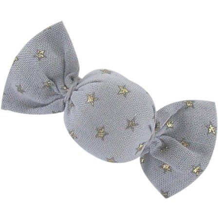 Mini sweet hairslide etoile or gris