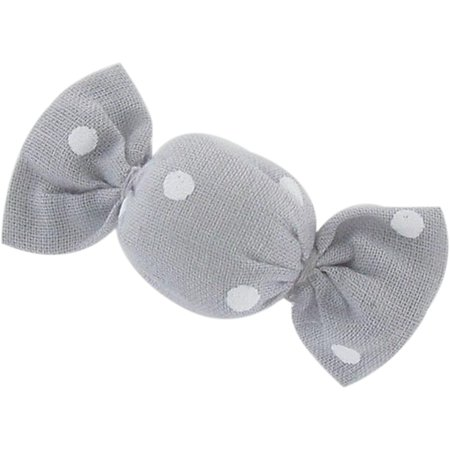Petite barrette mini bonbon pois gris clair
