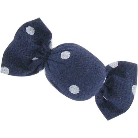 Petite barrette mini bonbon pois marine