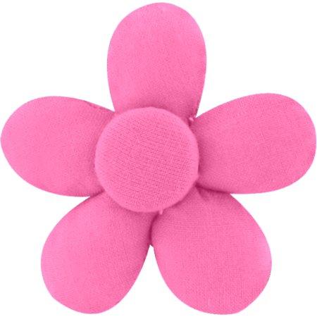 Mini flower hair slide pink - light cotton canvas