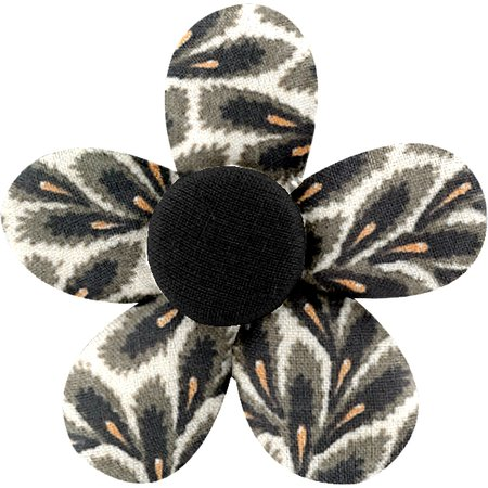 Petite barrette mini-fleur feuillage