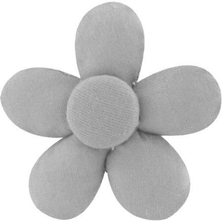 Petite barrette mini-fleur gris