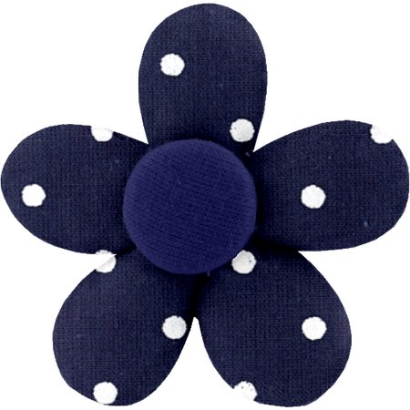 Mini flower hair slide navy blue spots