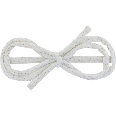 Arabesque bow hair slide white sequined