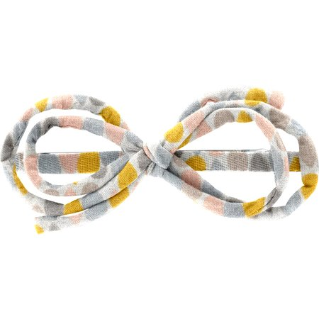 Barrette noeud arabesque gouttes pastel