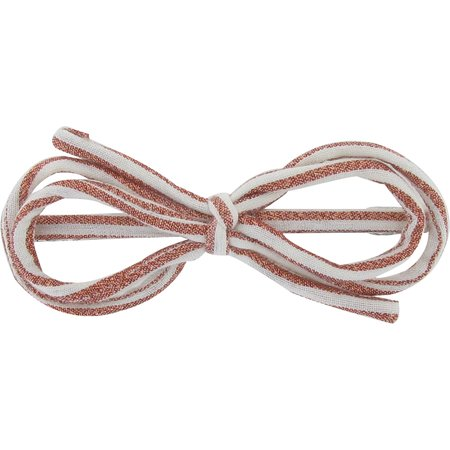 Arabesque bow hair slide copper stripe