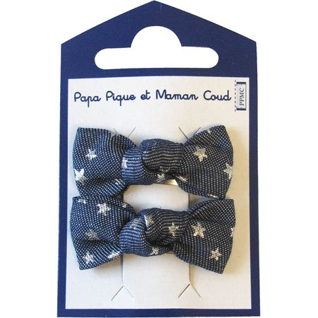 Small bows hair clips etoile argent jean