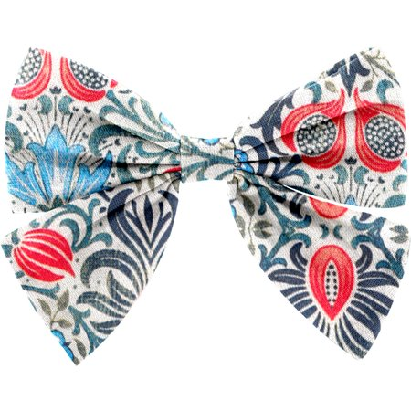 Bow tie hair slide azulejos