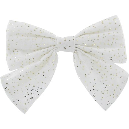 Bow tie hair slide white sequined