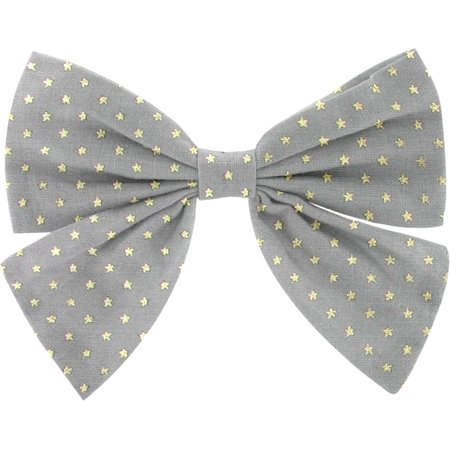 Bow tie hair slide etoile or gris