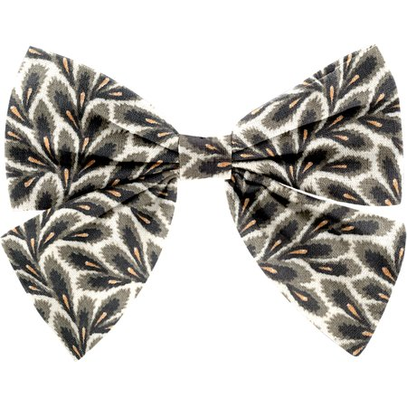 Barrette noeud papillon feuillage