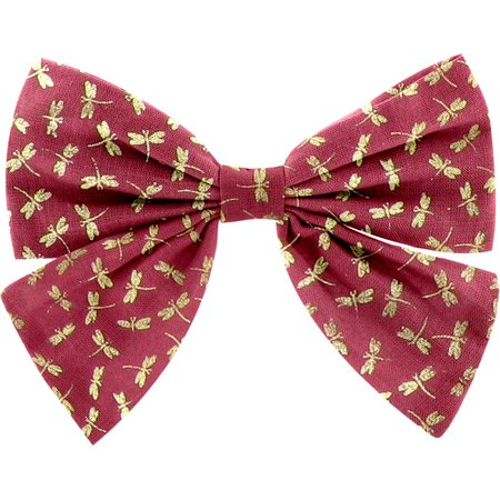 Bow tie hair slide ruby dragonfly