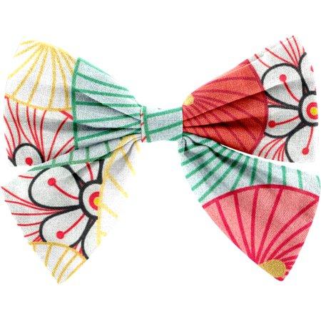 Barrette noeud papillon ombrelles