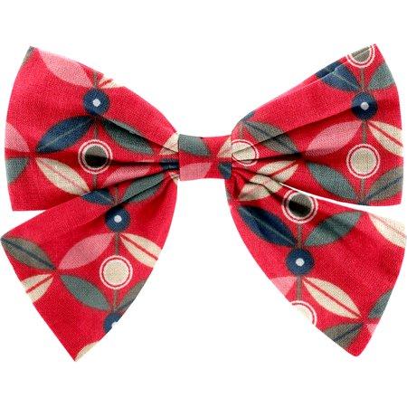 Bow tie hair slide paprika petal