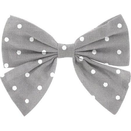 Bow tie hair slide light grey spots