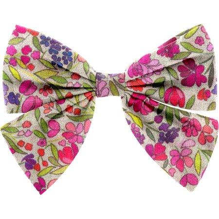 Bow tie hair slide purple meadow