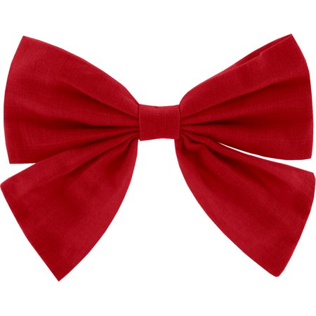 Bow tie hair slide red