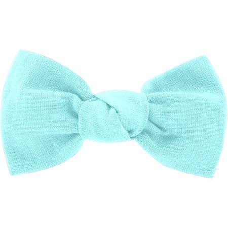Barrette petit noeud azur