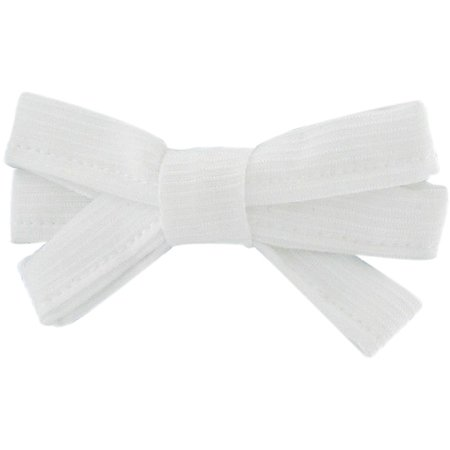 Ribbon bow hair slide white