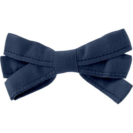 Ribbon bow hair slide navy blue