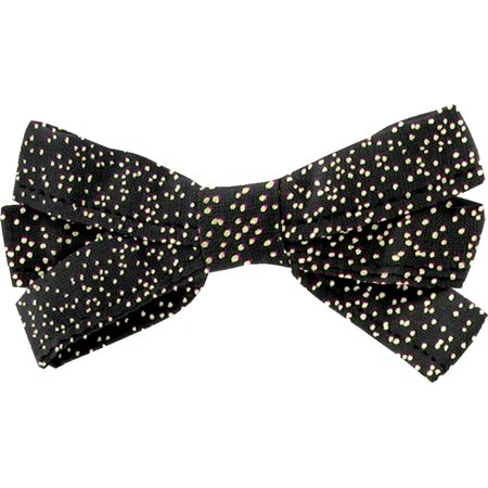 Ribbon bow hair slide noir pailleté