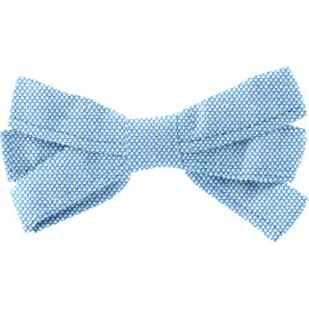 Barrette noeud ruban oxford ciel