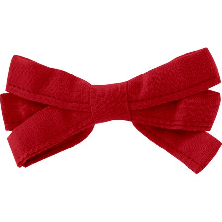 Barrette noeud ruban rouge