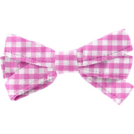 Ribbon bow hair slide fuschia gingham