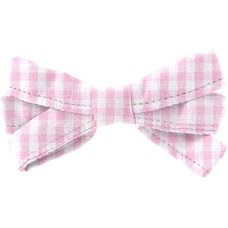 Ribbon bow hair slide pink gingham