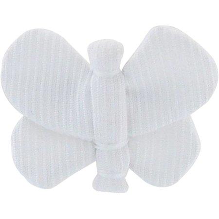 Pasadores de mariposa blanco