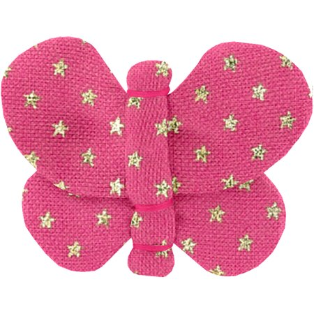 Butterfly hair clip etoile or fuchsia
