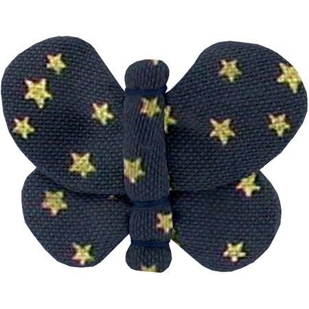 Butterfly hair clip etoile or marine