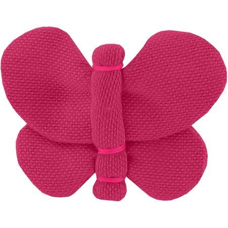 Barrette petit papillon fuchsia