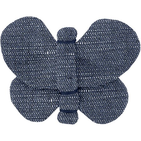 Butterfly hair clip light denim