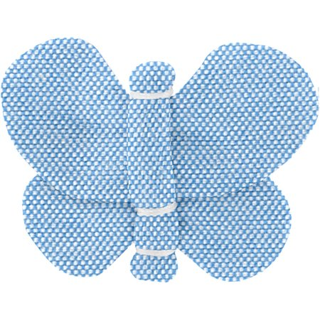 Barrette petit papillon oxford ciel